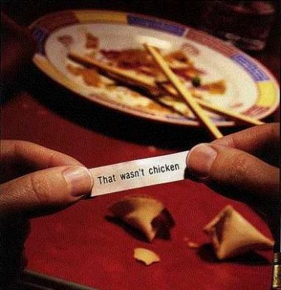Chicken fortune cookie