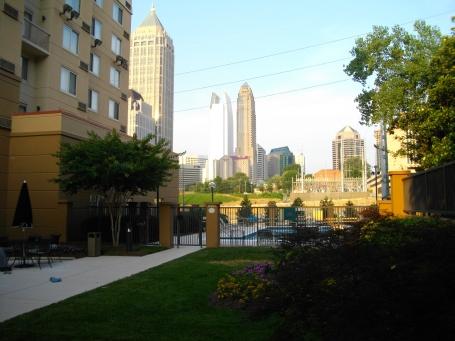 Hotel view to downtown Atlanta