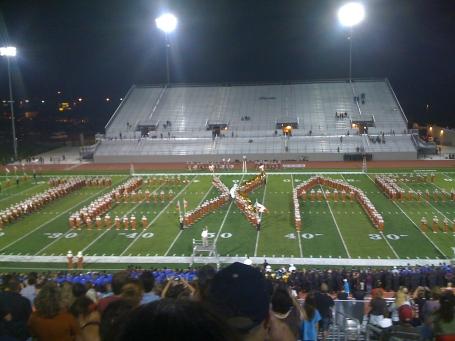 UT Band Spells Texas